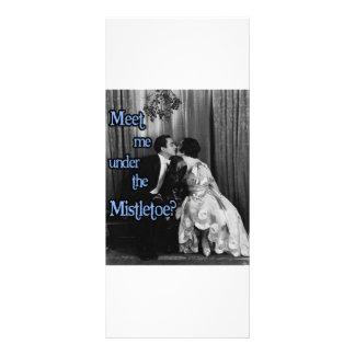 Meet me under the mistletoe rack card