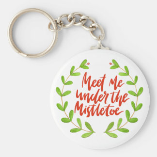 Meet me under the mistletoe - Romantic Christmas Keychain