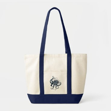 Beach Themed Meet Me Where The Sky Touches The Sea Octopus Tote Bag