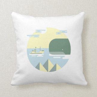 Meet moby throw pillow