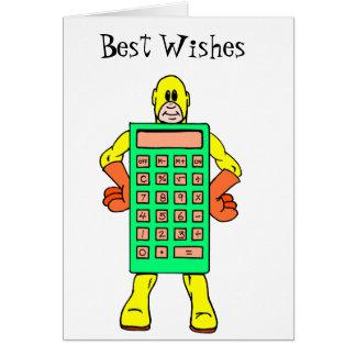 Meet Mr. Calculator Card
