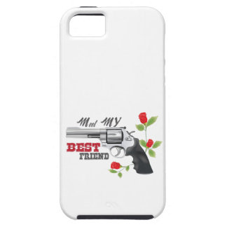 Meet my  best friend a gun with roses iPhone SE/5/5s case