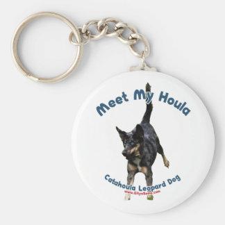 Meet My Houla Dog Keychain