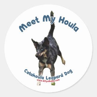 Meet My Houla Dog Classic Round Sticker