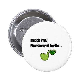 meet my turtle 2 inch round button
