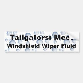 Meet My Windshield Fluid Car Bumper Sticker