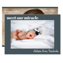 Meet Our Miracle | Baby Boy Birth Announcement