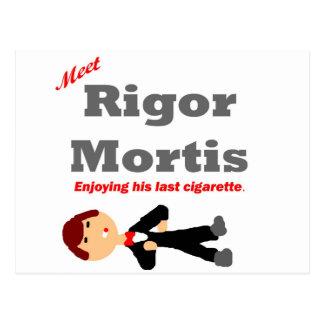 Meet Rigor Mortis Postcard