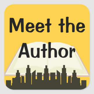 Meet the Author Promo Square Sticker