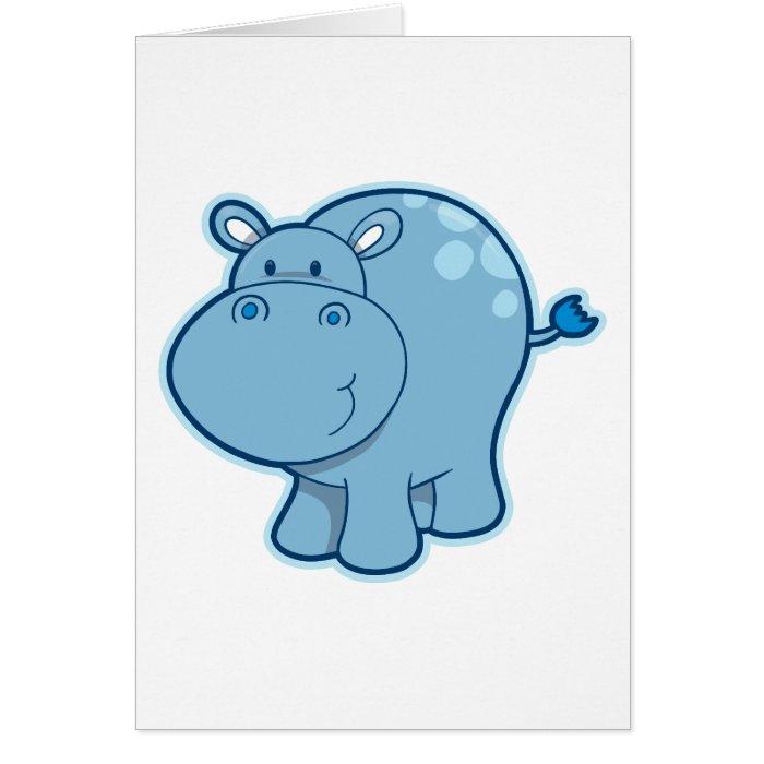 Meet the Blue Hippo! Card