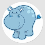 Meet the Blue Hippo! Stickers