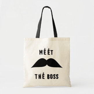 meet the boss tote bag