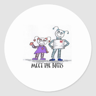 meet the botts classic round sticker