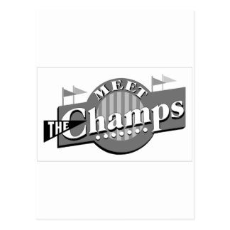 Meet The Champs Postcard