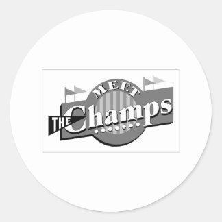Meet The Champs Classic Round Sticker