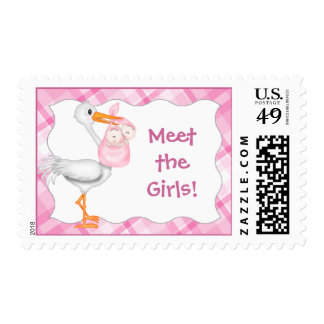 Meet the Girls! Twins Postage Stamps