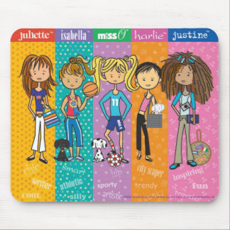 Meet the Miss O & Friends Girls mo... - Customized Mouse Pad