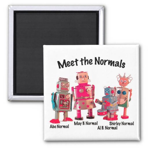 Meet the Normals 2 Inch Square Magnet
