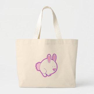 Meet the Pink Rabbit! Jumbo Tote Bag