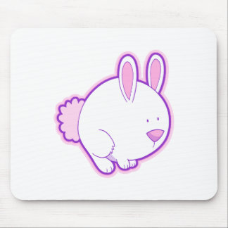 Meet the Pink Rabbit! Mouse Pad