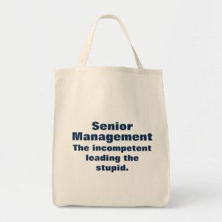 Meet the senior management tote bag