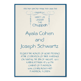 Meet Us Under the Chuppah in Wedding Invite
