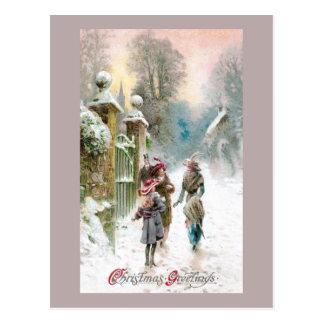 Meet You at the Gate Vintage Christmas Postcard