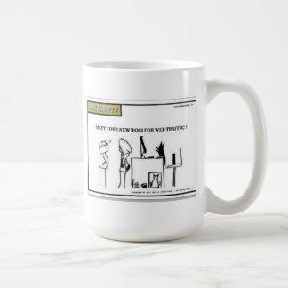 MEET YOUR NEW BOSS FOR WEB TRAFFIC! by jokeapptv Coffee Mug