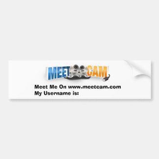 MeetCam Bumper Sticker