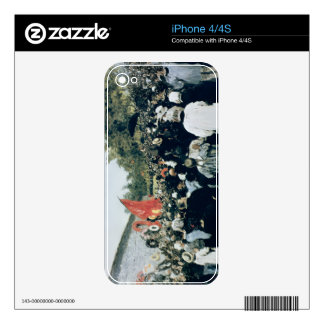 Meeting at the Mur des Federes - Pere Lachaise, 18 Decal For The iPhone 4