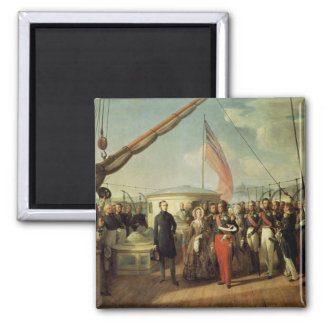 Meeting b/w Louis-Philippe and Queen Victoria 2 Inch Square Magnet