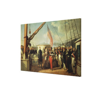 Meeting b/w Louis-Philippe and Queen Victoria Canvas Print