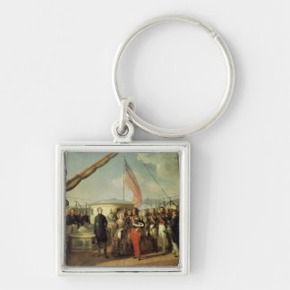 Meeting b/w Louis-Philippe and Queen Victoria Keychain