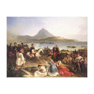 Meeting Between General Nicolas Joseph Maison Canvas Print