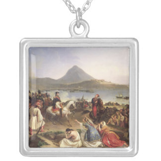 Meeting Between General Nicolas Joseph Maison Silver Plated Necklace