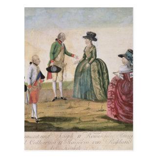 Meeting between Joseph II and Empress Postcard