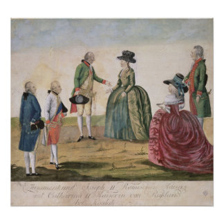 Meeting between Joseph II and Empress Poster