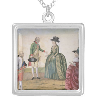 Meeting between Joseph II and Empress Silver Plated Necklace