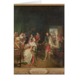 Meeting Between Louis II  de Bourbon Card