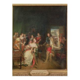 Meeting Between Louis II  de Bourbon Postcard
