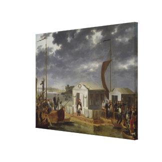 Meeting between Napoleon Bonaparte Canvas Print