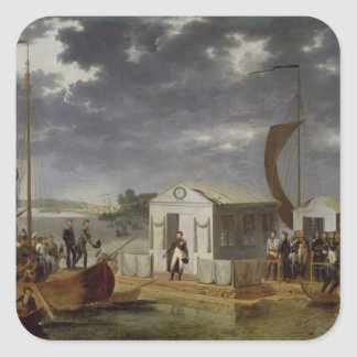 Meeting between Napoleon Bonaparte Square Sticker