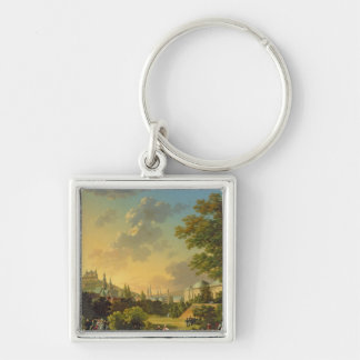 Meeting Between Napoleon I  and Ferdinand III Silver-Colored Square Keychain