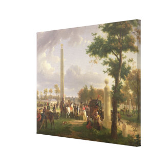 Meeting between Napoleon I  and Pope Canvas Print