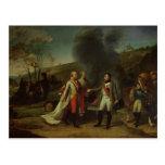 Meeting between Napoleon I & Francis I Postcards