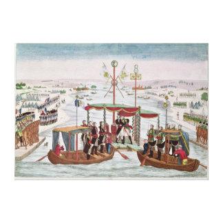 Meeting between Napoleon I & Tsar Alexander I Canvas Print