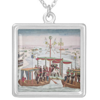 Meeting between Napoleon I & Tsar Alexander I Silver Plated Necklace