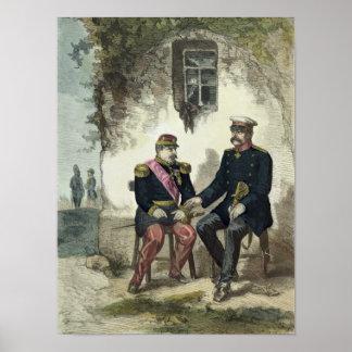 Meeting between Otto von Bismarck and Napoleon Poster