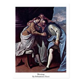 Meeting By Sebastiano Ricci Post Card