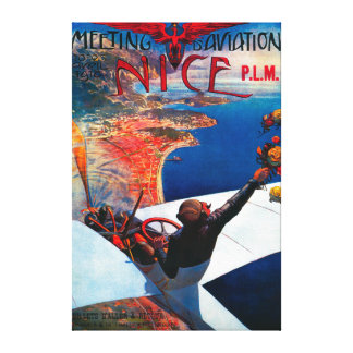 Meeting D' Aviation in Nice, France Poster Gallery Wrap Canvas
